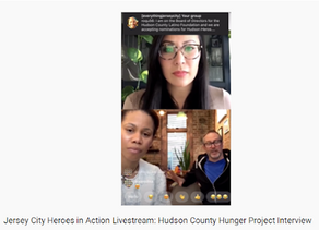 Jersey City Heroes in Action Livestream: Hudson County Hunger Project Interview