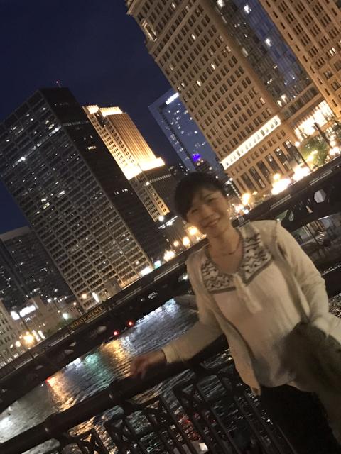 シカゴにて。