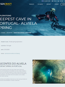Exploration of the deepest underwater cave in Portugal – Alviela Spring