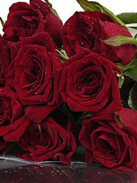 Valentine's Day 12 x Long Stem Red Roses