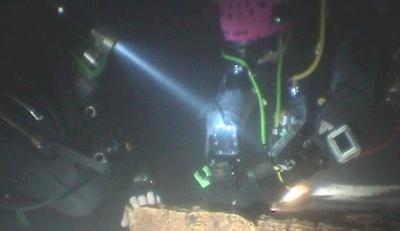 Expedição subaquática na gruta do Almonda