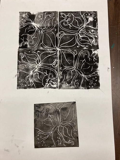 Intro to Block Printing-Wed 5-7:30