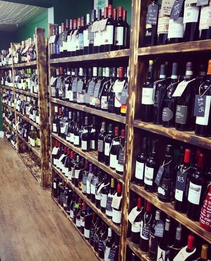 Reclaimed Wine Bar Shelving
