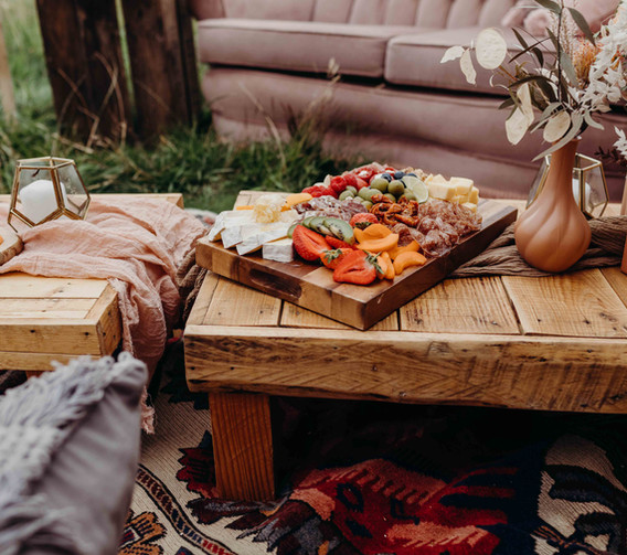 Low Level Rustic Tables