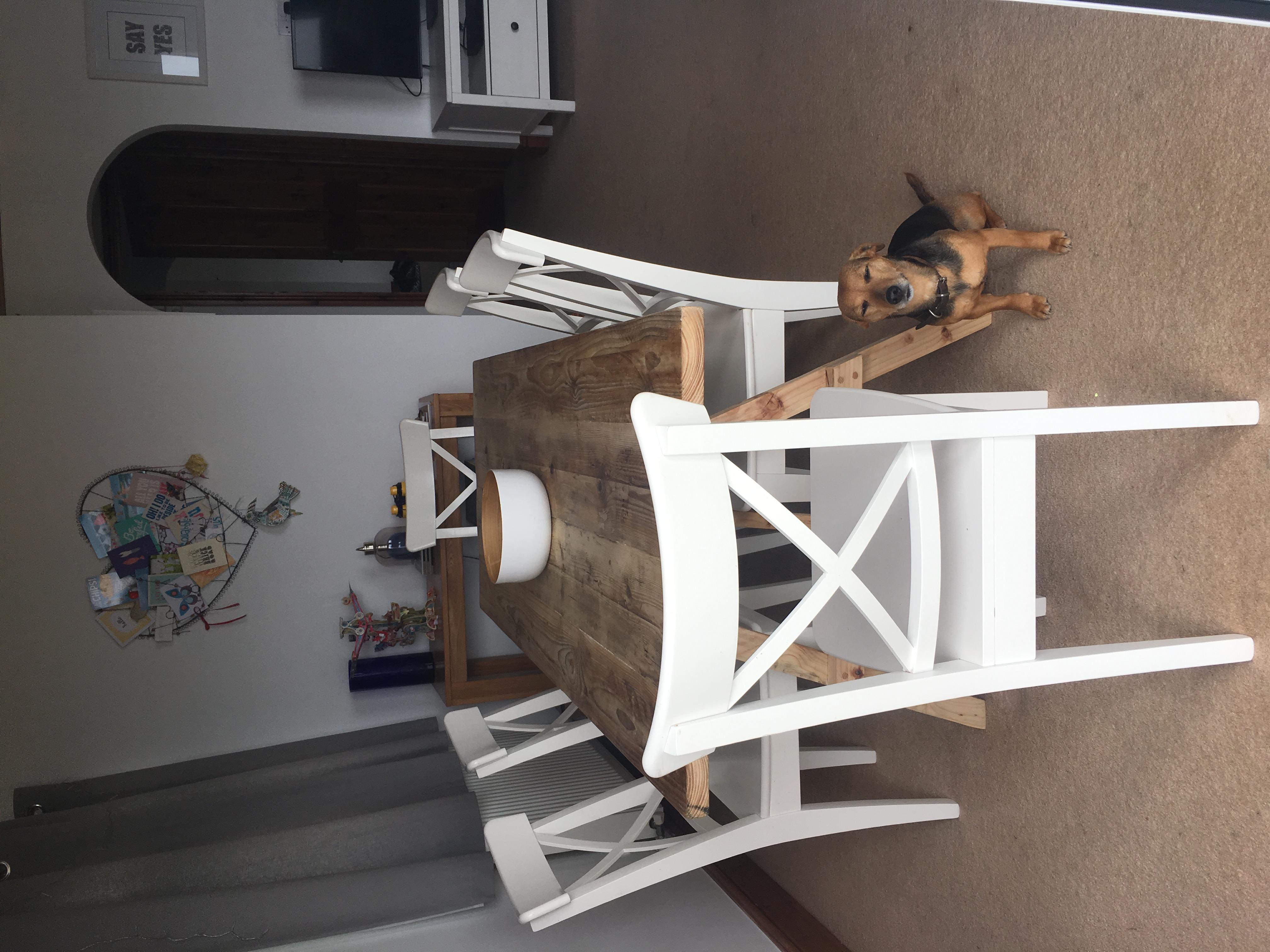 Handmade reclaimed dining table