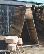 Rustic Reclaimed Wooden Garden Den Tipi Teepee