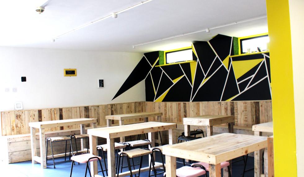 Castle Newnham School Cafe Upcycled Refurbishment
