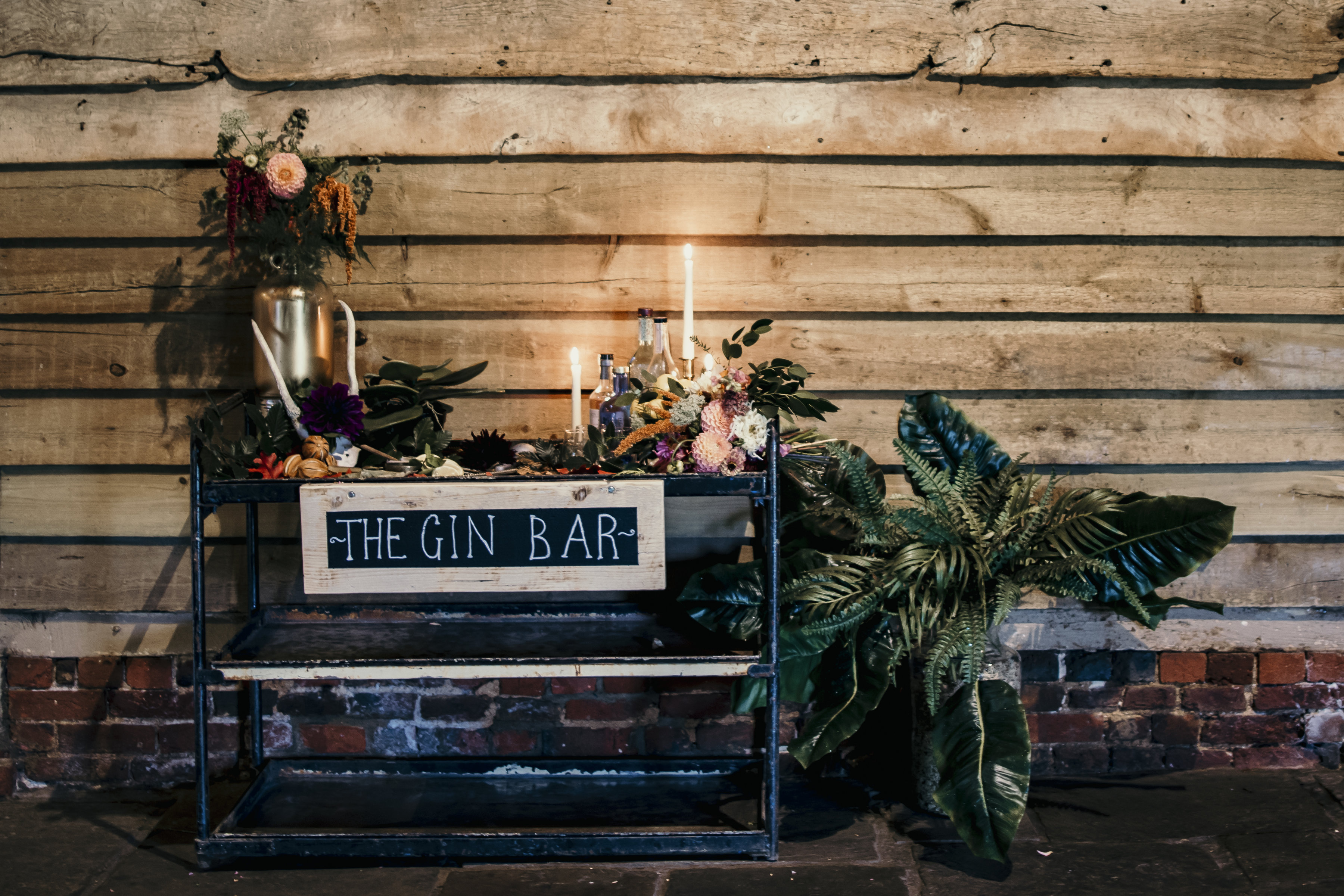 Industrial Gin Bar Hire