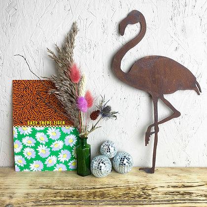 Rusted Flamingo Sign | Wall Art | Garden Decor | Wall Decoration | Gift