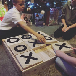 Rustic Reclaimed Wooden Noughts and Crosses Garden Game