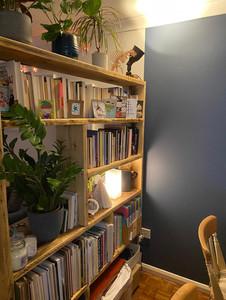 Rustic Room Dividing Bookcase