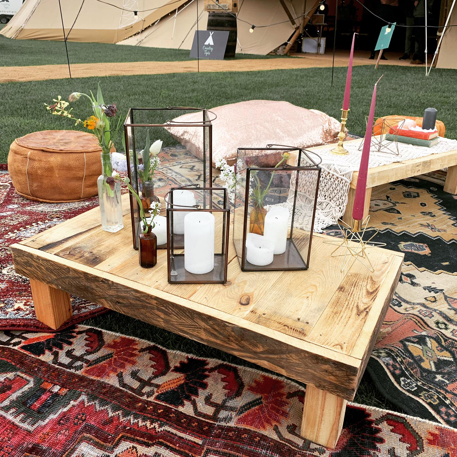 Boho chill out zone furniture