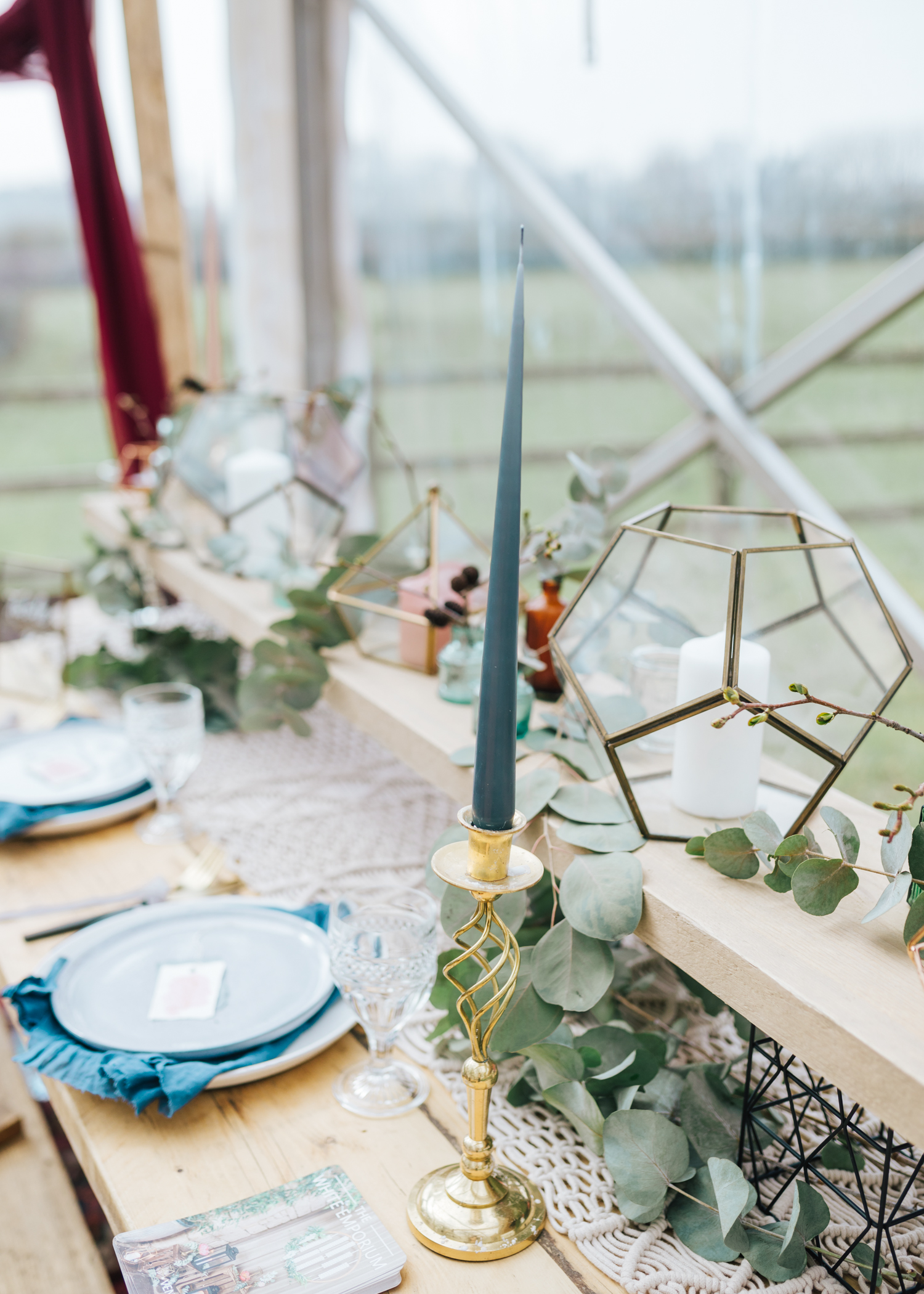 Wedding boho table decor