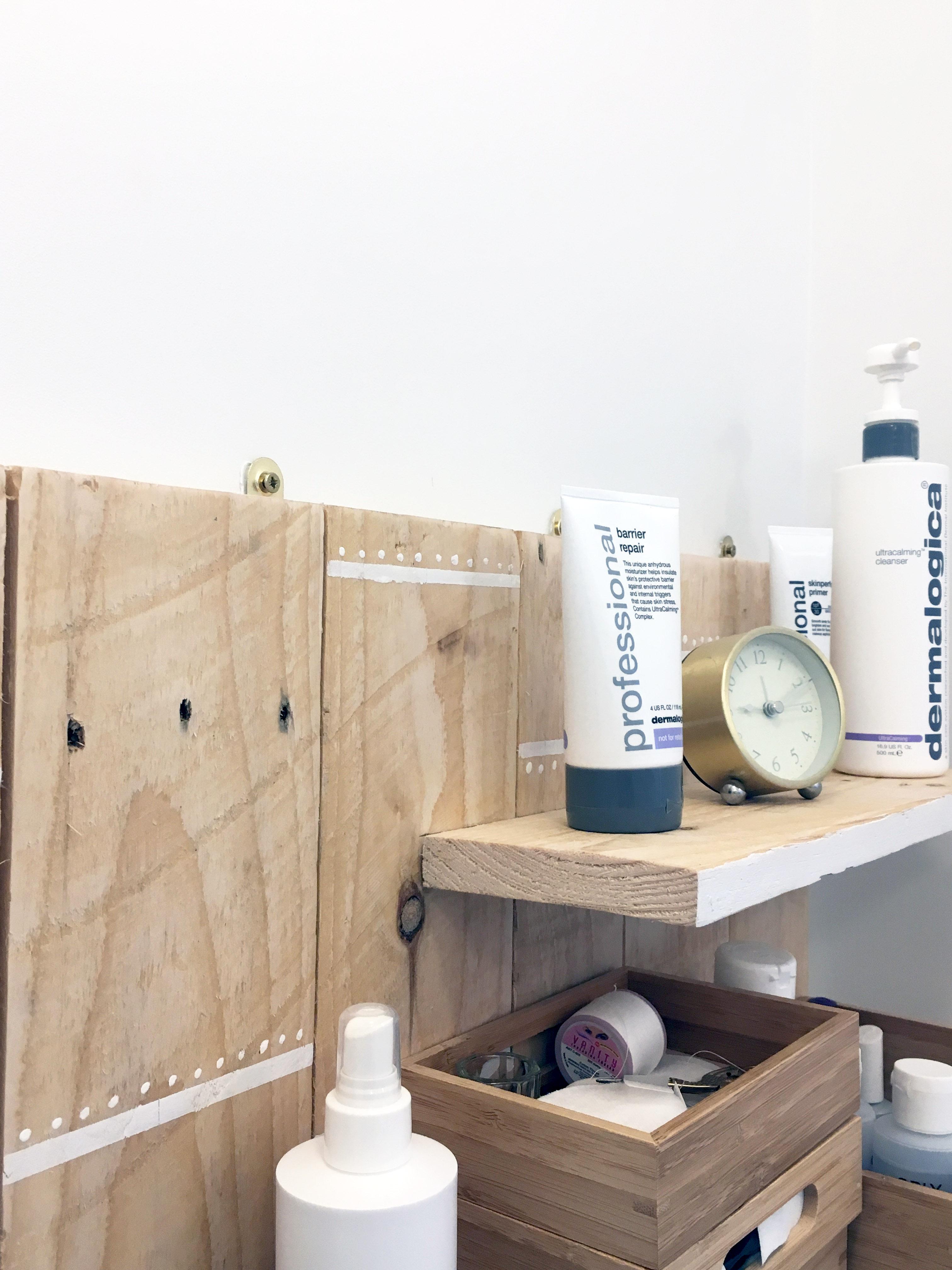 Reclaimed trinket shelves
