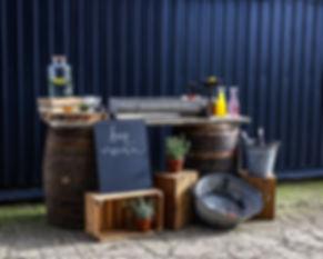 Whiskey Barrel Bar Hire | Boho Furniture Hire | Event Furniture Hire | Wedding Prop Hire | Photo https://www.gourmandpixels.com
