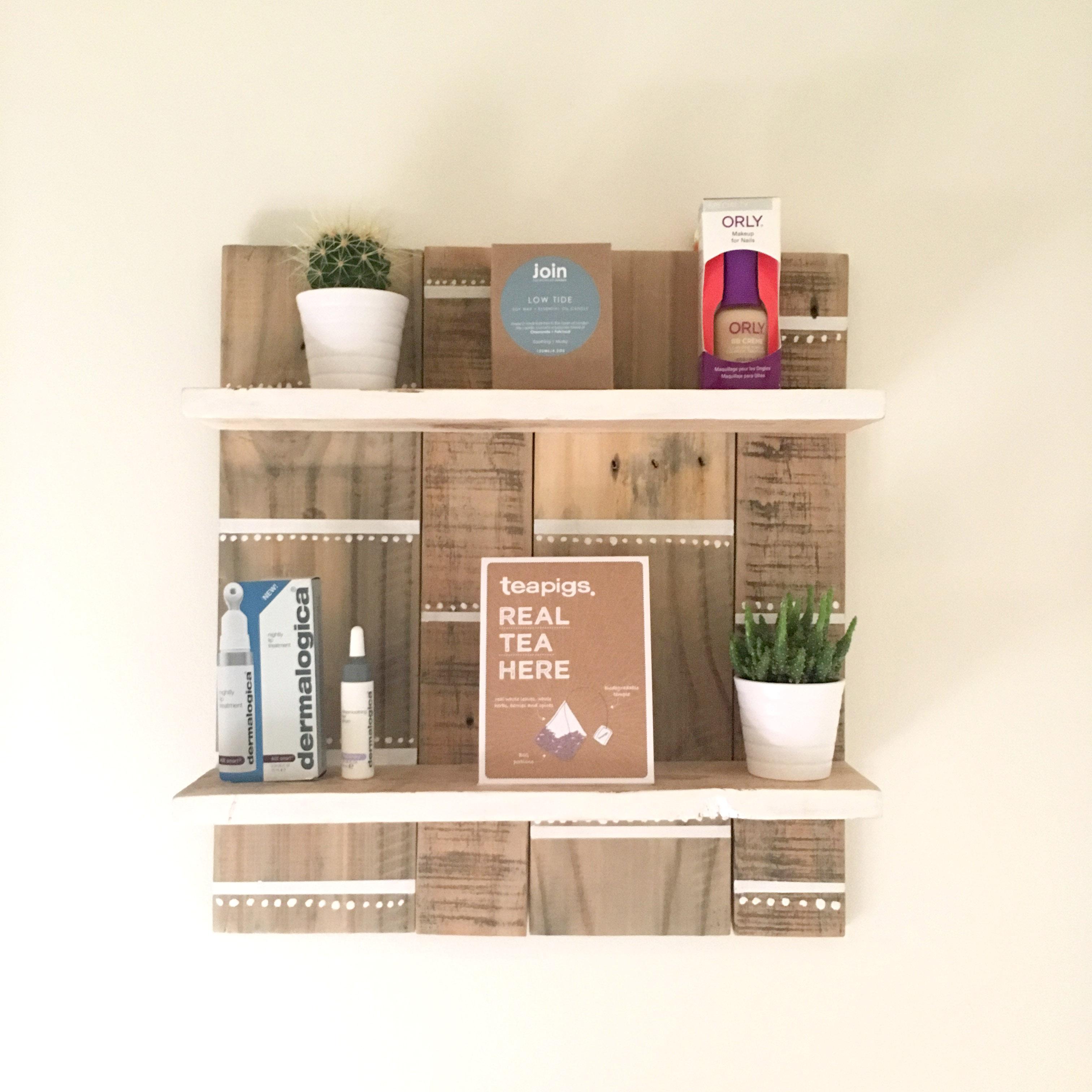Scandi trinket shelves