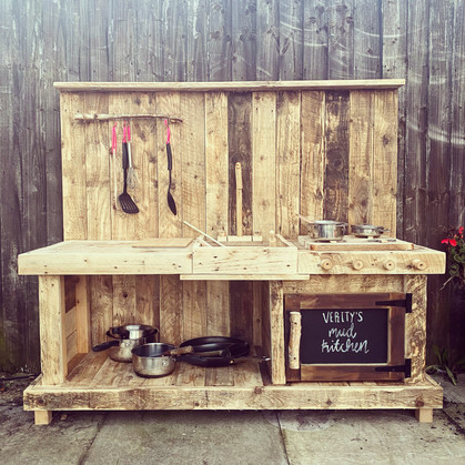 Reclaimed Rustic Wooden Mud Kitchen Garden Toy