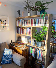 Rustic Wooden Room Dividing Bookcase