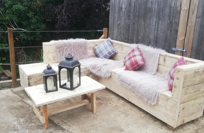 Reclaimed outdoor L sofa