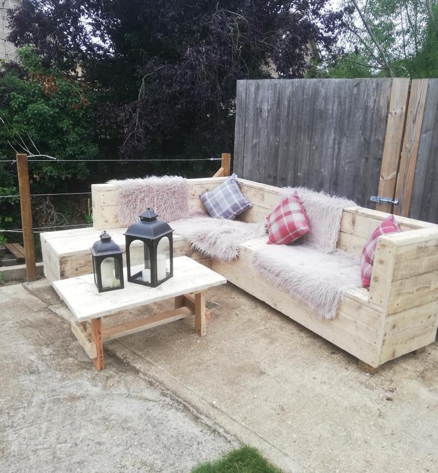 Reclaimed outdoor L sofa