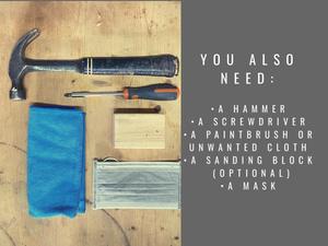 DIY kit: Reclaimed serving tray