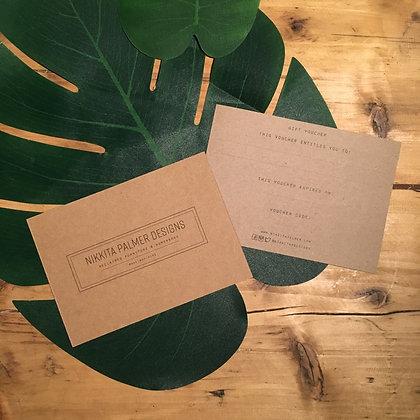 Gift Voucher Nikkita Palmer Designs