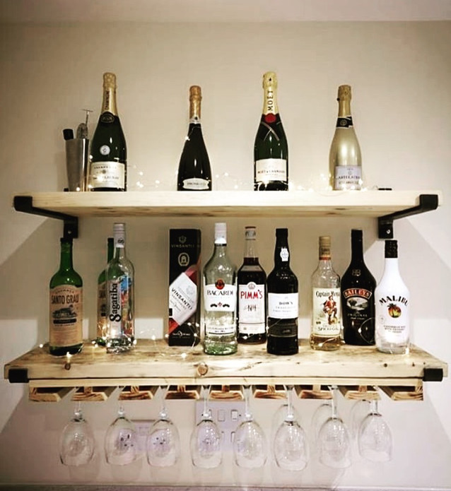 Bespoke bar shelving