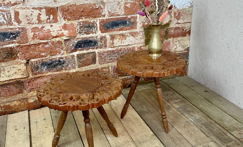 Ornate Carved Side Table