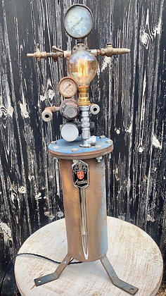 Upcycled vintage industrial light