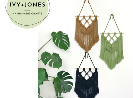 The Girl Boss Directory: Ivy and Jones | Handmade Macrame + Colourful Home Decor