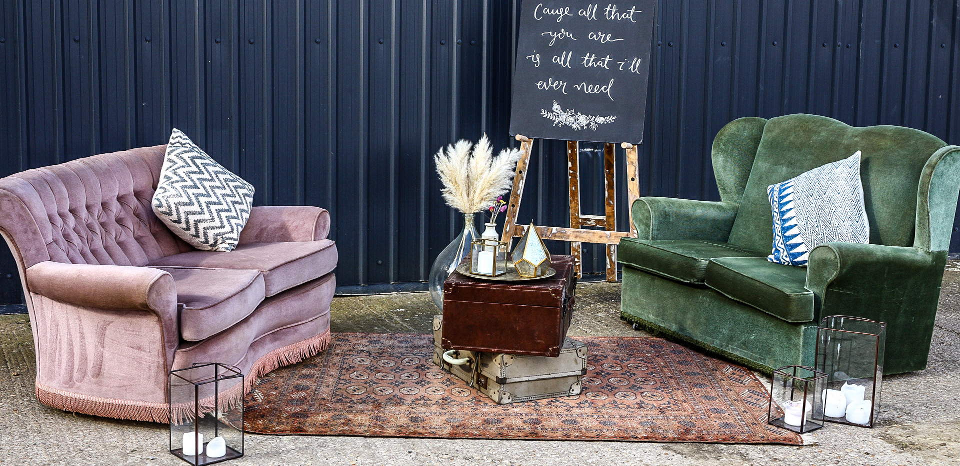 Vintage Sofas - Boho Chill Out Area