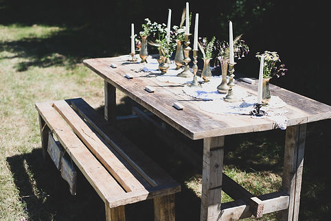 Recalimed Rustic Trestle Tables For Hire