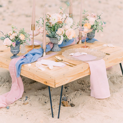Reclaimed Rustic Luxe Low Level Picnic Table | Party Table |