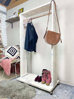 Reclaimed Industrial Rustic Clothes Rail