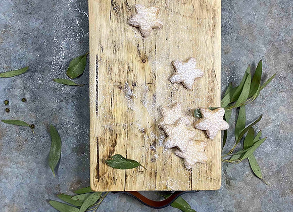 Large Reclaimed Serving Board Leather Handles