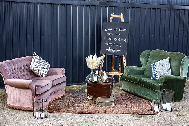 Vintage Sofa Boho Chill Out Area | Boho Furniture Hire | Event Furniture Hire | Wedding Prop Hire | Photo https://www.gourmandpixels.com