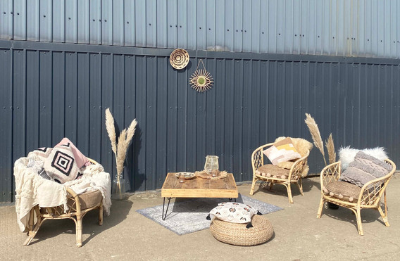 Luxe scandi cane sofa and chair hire .jp