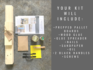 DIY kit to create a reclaimed serving board