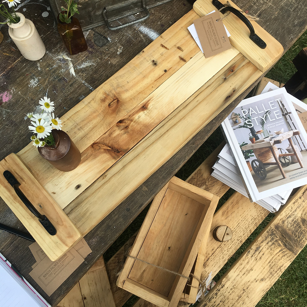 Reclaimed serving trays