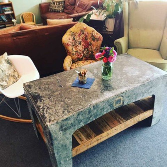 Rustic Reclaimed Cafe Coffee Table