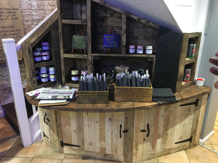 Rustic Reclaimed Cafe Display and Storage Furniture