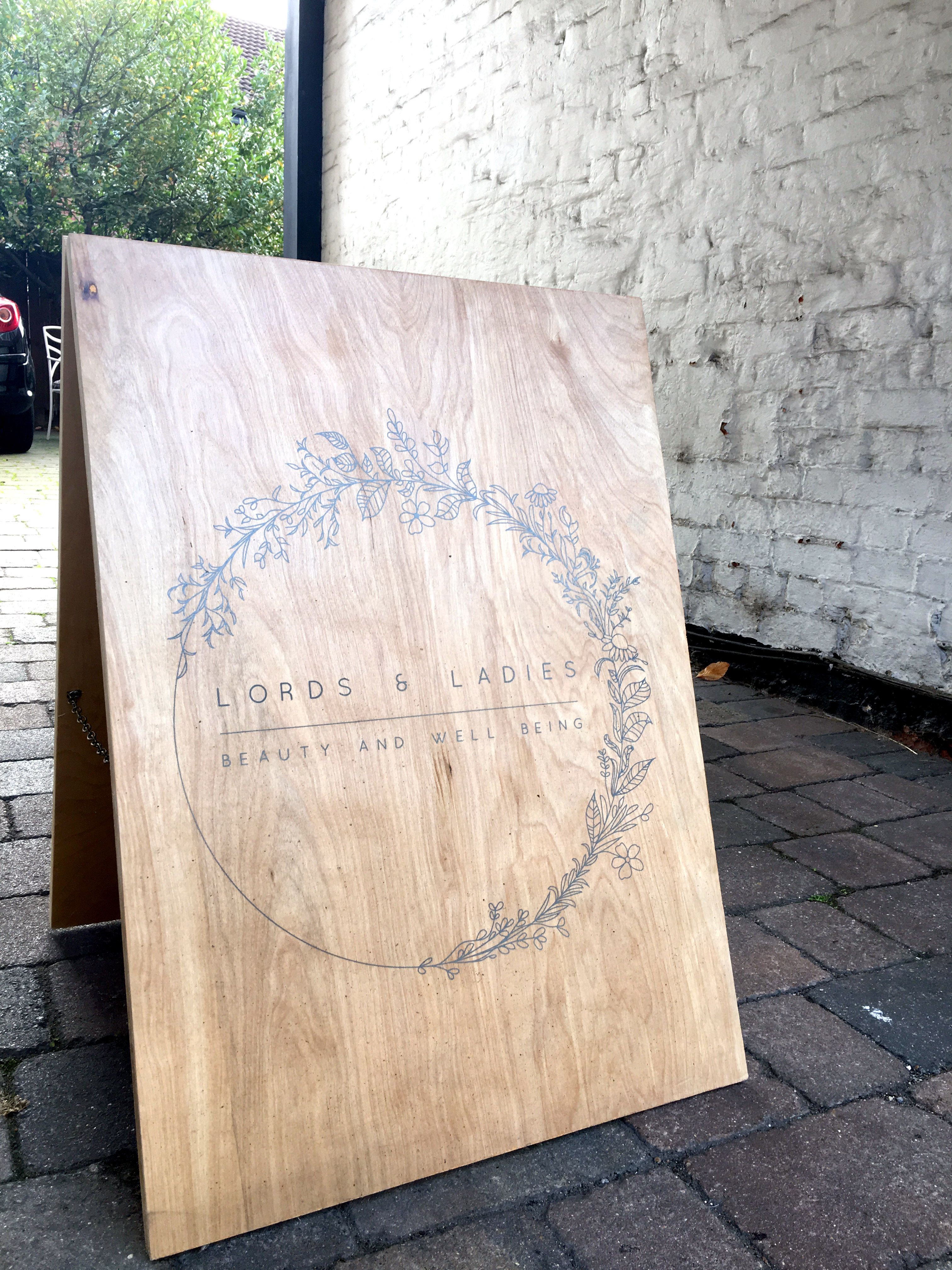 Bespoke, handmade A frame.