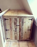 Rustic Wooden Storage Cupboard/Box