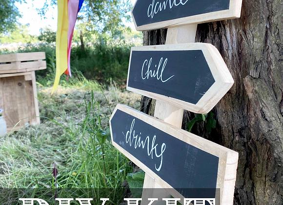 DIY KIT: Reclaimed Festival Directional Sign