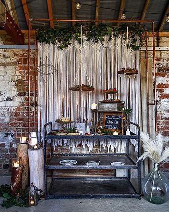 Industrial Bar Trolley   Boho Furniture Hire   Event Furniture Hire   Wedding Prop Hire   Photo https://www.gourmandpixels.com