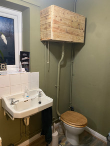 Reclaimed Rustic Wooden Toilet Cistern Cover