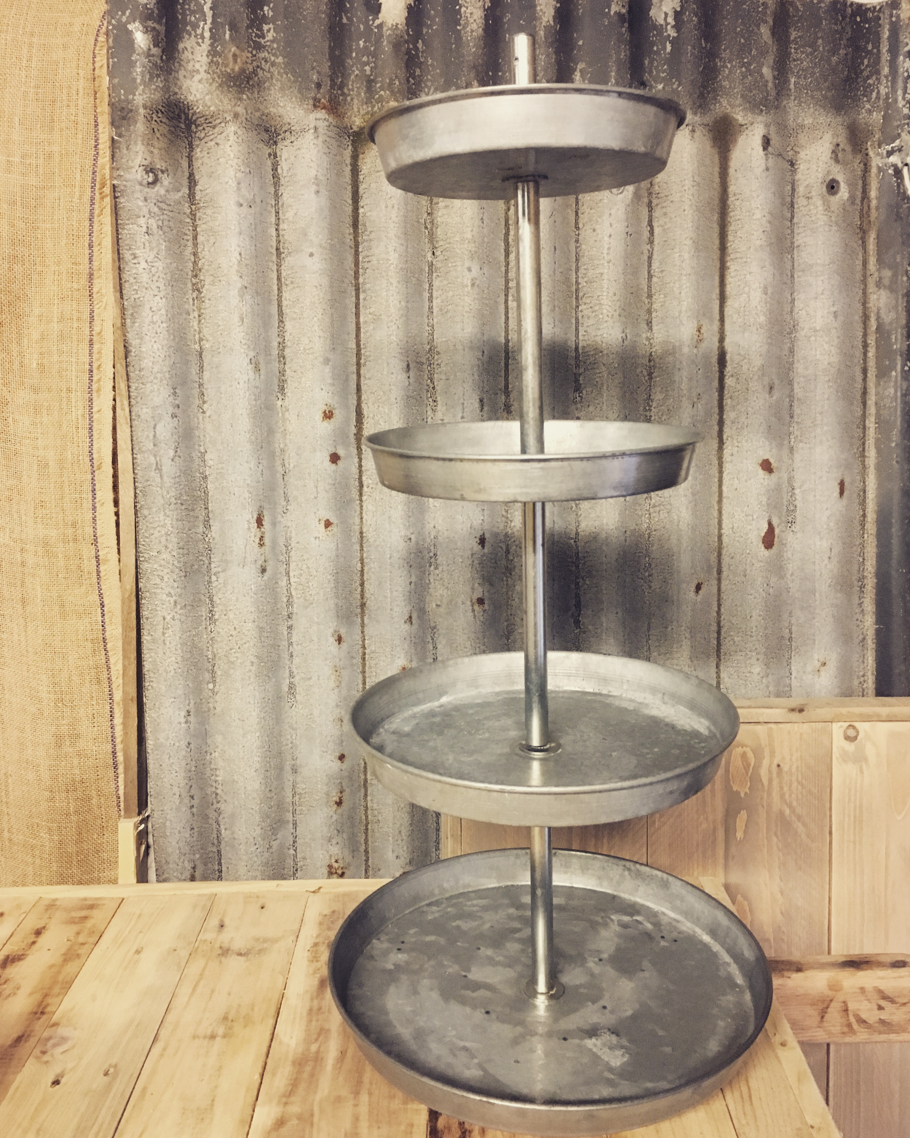 Industrial Cup Cake Stand £15