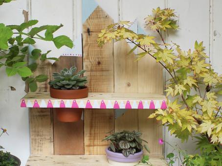 Make your own Boho Pallet Planter Shelf