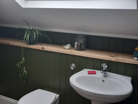 Rustic Reclaimed Bathroom Storage Display Shelf