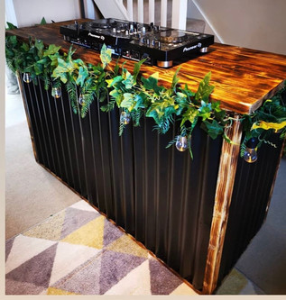 Rustic Reclaimed DJ Mixing Desk with Storage
